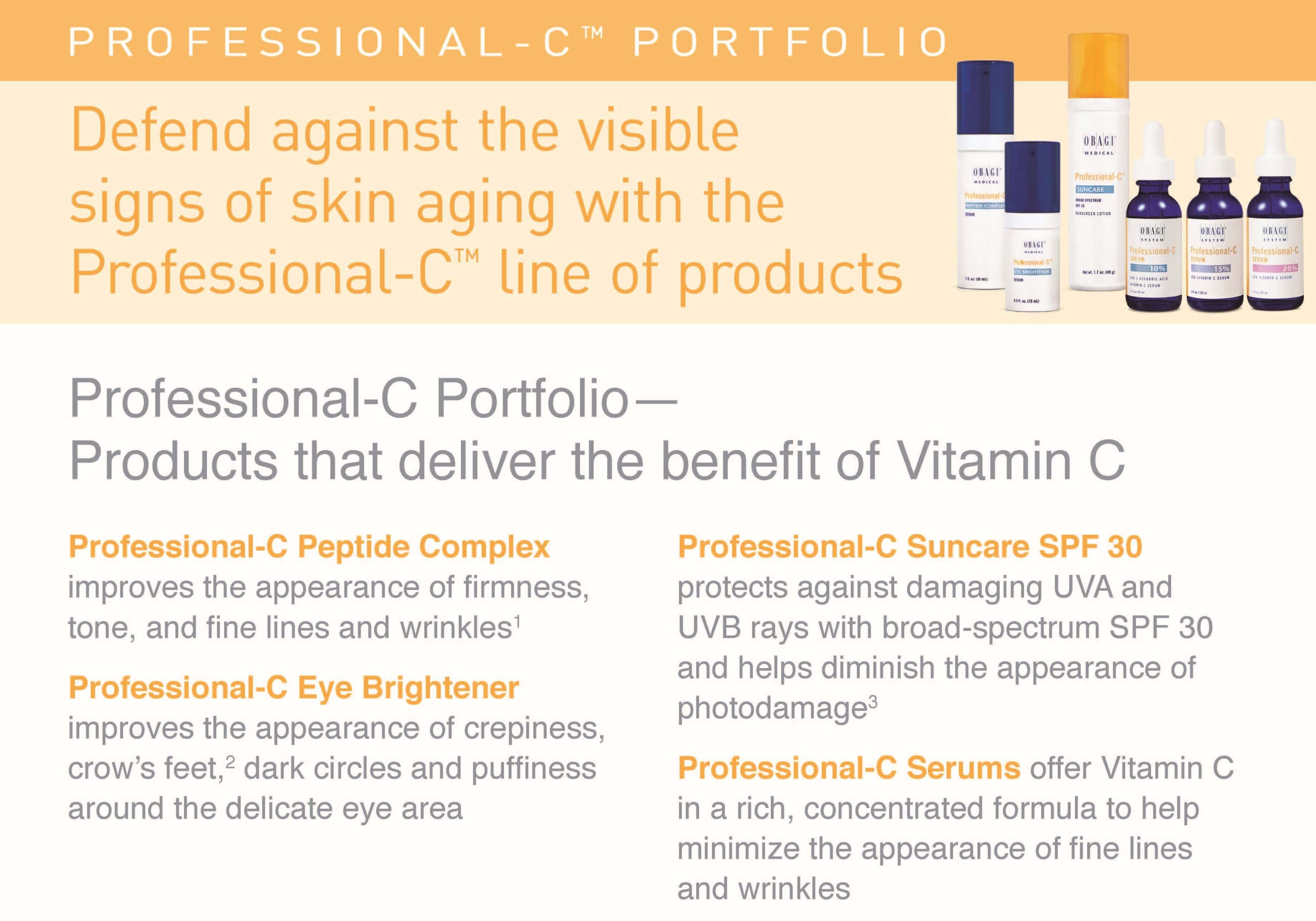 Obagi Professional C-Serums protect skin and minimize fine lines and wrinkles